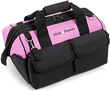 """Pink Power 16"""" Tool Bag for Women with 22"""