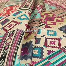 Pink Purple Aztec Patch Pattern Velour Velvet