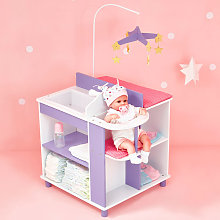 Pink Purple Baby Doll Changing Table Nursery