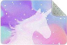 Pink Purple Watercolor Unicorn