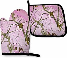 Pink Realtree Camo Kitchen Oven Mitts And Pot