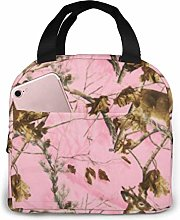 Pink Realtree Camo Reusable Insulated Lunch Tote