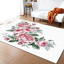 Pink Rose Carpet for Living Room Home Living Room
