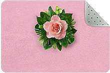 Pink rose Rugs Ultra Soft Play Tent Rug Circular