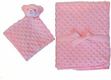 Pink Soft Baby Receiving Swaddle | Warm Plush