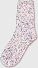 Pink Space Dye Chenille Cosy Socks - 4-8
