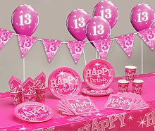 Pink Sparkle 13th Birthday Party Pack