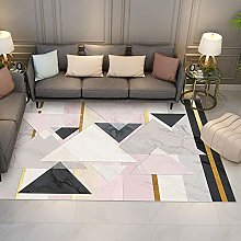 Pink stone triangle Multicoloured Cotton Rug for