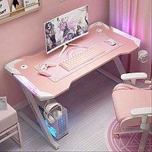 Pink streamer table desktop computer table family