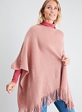 Pink Supersoft Poncho - One Size