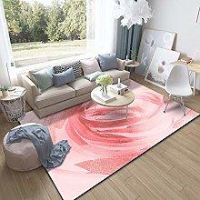 Pink swirl Cotton area carpet woven indoor area