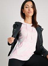 Pink Tie Dye Knitlook Hoodie - 8