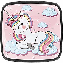 Pink Unicorn Cloud Square Cabinet Knobs and Pulls,