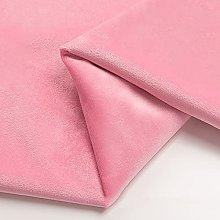 Pink Velvet Fabric by the Metre Soft for DIY Craft