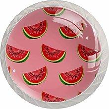 Pink Watermelon 4 Pieces Crystal Glass Wardrobe