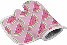 Pink Watermelon Heat Resistant Oven Gloves