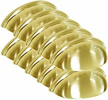 PinLin 10 Pack Cabinet Cup Handles 76mm Hole