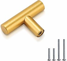 PinLin 15 Pack Brushed Brass Cabinet Knobs