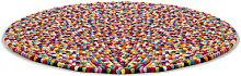 Pinocchio Rug - Ø 140 cm by Hay Multicoloured