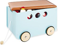 Pinolino Toy Chest with Wheels Jim Blue
