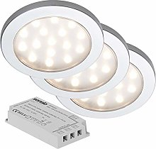 Pinto - Under Cabinet 3 Light Kit Inc LED Driver -