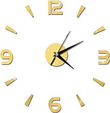Piosesdf 3D Wall Clock Mirror Wall Stickers