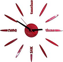 Piosesdf DIY Wall Clock 3D Mute Mirror Stickers