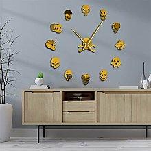 Piosesdf Mute Wall Clock 3D DIY Clock Watch Funny