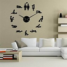 Piosesdf Room wall clock DIY Adult Room Decorative
