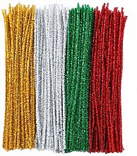 Pipe Cleaners 400 Pcs 4 Colors Christmas Chenille