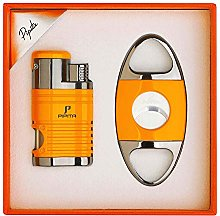 PIPITA Cigar Torch Lighter 4 Jet Red Flame Torch
