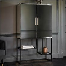 Pippard Drinks Cabinet with Mirrored Black Finish