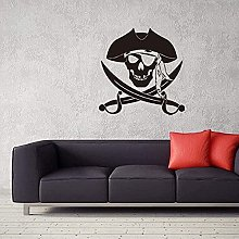 Pirate Head WallStickers Vinyl Wall