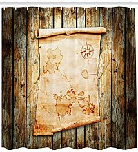 Pirate map grunge wood High-definition printed