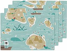 Pirate Ship Treasure Map Boys Nursery Pirate Sea