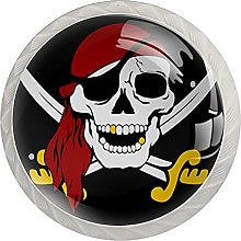 Pirate Skull, 4Pack ABS Dresser Knobs Cabinet