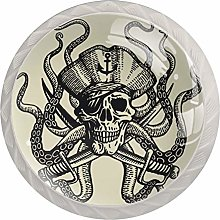 Pirate Skull with Tentacles of Octopus Solid