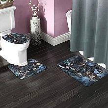 Pirates Caribbean Bathroom Rugs Set Non-Slip Water