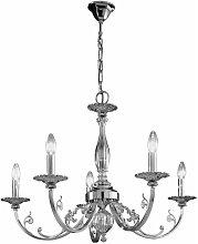 PISANI classic chandelier chrome 5 lights