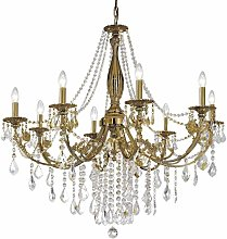PISANI CRYSTAL crystal chandelier in antique brass