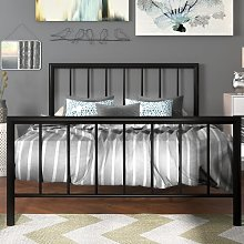 Pisces Bed Frame Wrought Studio Size: Kingsize