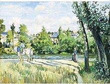 Pissarro Sunlight On The Road Pontoise Large Wall