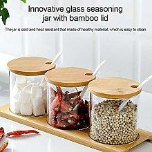 PITCHBLA Transparent Glass Spice Racks Small