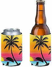 Pizding 2pcs Can Cooler Sleeves Beer Blank Cover,
