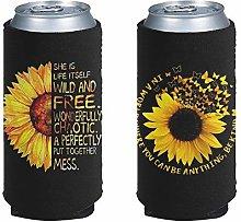 Pizding 2pcs Stylish Yellow Sunflower Standard Can