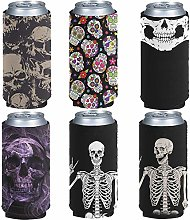 Pizding 6pcs Can Cooler Sleeves Beer Blank Cover,