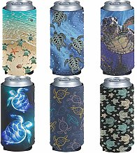 Pizding Party Slim Can Cooler Sleeves - Non-Slip