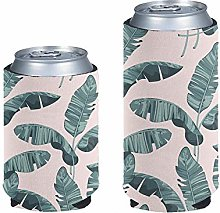 Pizding Slim Can Cooler 2 Pack, Tropical Palm