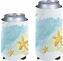 Pizding Standad Can Cooler Sleeves 2pcs 12oz Drink