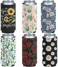 Pizding Standad Can Cooler Sleeves 6pcs 12oz Drink